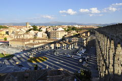 Aqueduct in Segovia, Spain Stock Photo