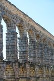 An aqueduct in Segovia, Spain. The Aqueduct of Segovia is a Roman aqueduct in Segovia, Spain. It is the foremost symbol of Segovia, as evidenced by its presence Stock Photos