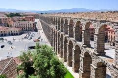 Aqueduct of Segovia, Spain. Aqueduct of Segovia in Spain royalty free stock images