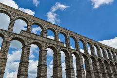 Aqueduct of segovia, spain Stock Photography
