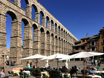 Aqueduct in Segovia Spain Stock Photo