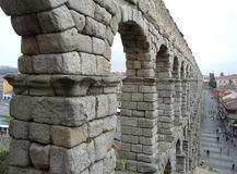 Aqueduct of Segovia, stunning UNESCO World Heritage site of Segovia Royalty Free Stock Photography