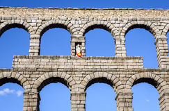 Aqueduct of Segovia Stock Images
