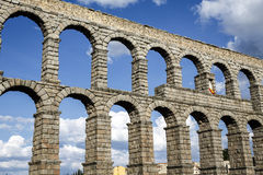 Aqueduct of Segovia Royalty Free Stock Photography