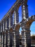Aqueduct of segovia. View of famous aqueduct of Segovia, Spain Stock Photo