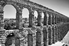 Aqueduct in Segovia, vintage Royalty Free Stock Photo
