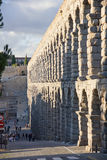 Aqueduct of Segovia. The Segovia aqueduct was built by the Romans in the second century AD, its maximum height is 28 meters and was used to transport water Royalty Free Stock Photos