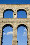 Aqueduct of Segovia. The Segovia aqueduct was built by the Romans in the second century AD, its maximum height is 28 meters and was used to transport water stock images