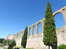 Aqueduct of Serpa village, Alentejo Royalty Free Stock Photo