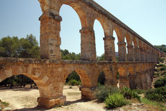 Aqueduct in Tarragona. Called devil's bridge Royalty Free Stock Image