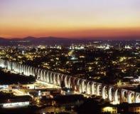 Aqueduct at twilight stock photos