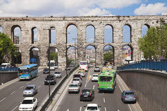 Aqueduct of Valens in Istanbul Stock Photos