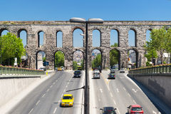 Aqueduct of Valens in Istanbul, Turkey royalty free stock images