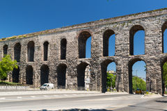 Aqueduct of Valens in Istanbul, Turkey Stock Image