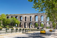Aqueduct of Valens in Istanbul, Turkey stock images