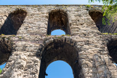 Aqueduct of Valens in Istanbul, Turkey stock photo