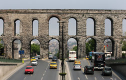 The Aqueduct of Valens in Sultanahmet in Istanbul, Turkey. royalty free stock photos