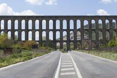 The Aqueduct of Vanvitelli or Caroline Aqueduct is an aqueduct built to supply the Reggia di Caserta and the San Leucio complex Stock Images