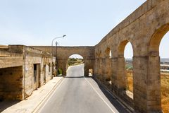 Aqueduct Victoria in Gozo Royalty Free Stock Photo