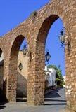 Aqueduct of zacatecas. Street and aqueduct of zacatecas stock image