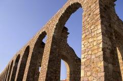 Aqueduct- Zacatecas, Mexico. 17th century Acueducto el Cubo on Av. Gonzalez Ortega in the colonial mining city of Zacatecas, Mexico royalty free stock photo