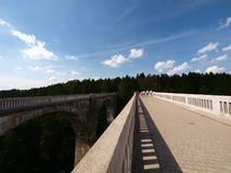 Aqueducts railway Stańczyki 3. The historic railway aqueducts built in the nineteenth century by the Prussians Stock Photo