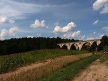 Aqueducts railway Stanczyki. The historic railway bridges of the nineteenth century in northern Poland Stock Photo