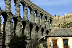 Aqueducts in Segovia Spain Stock Photography