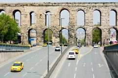 Aqueducts of Valens in Istanbul, Turkey royalty free stock image