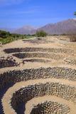 Aqueduto antigo em Nazca, Peru fotografia de stock