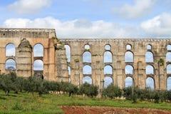 Aqueduto da Amoreira, Elvas,葡萄牙 免版税库存图片