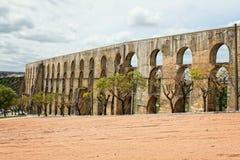 Aqueduto da Amoreira, Elvas,葡萄牙 图库摄影