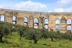 Aqueduto da Amoreira, Elvas, Portugal Royalty Free Stock Photography