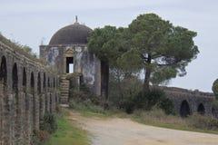 Aqueduto de Pegoes Tomar葡萄牙 免版税库存照片