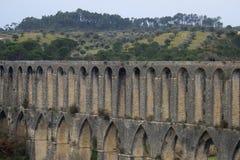 Aqueduto de Pegoes Tomar葡萄牙 库存图片