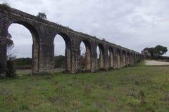 Aqueduto de Pegoes Tomar葡萄牙 库存照片