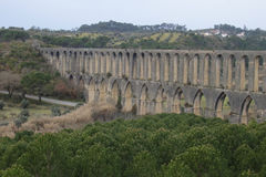 Aqueduto de Pegoes Tomar Πορτογαλία Στοκ εικόνα με δικαίωμα ελεύθερης χρήσης