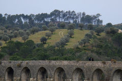 Aqueduto de Pegoes Tomar Portugal Imágenes de archivo libres de regalías