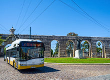 Aqueduto de Sao塞巴斯蒂昂渡槽在科英布拉 葡萄牙 免版税图库摄影