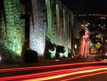 Aqueduto em Queretaro, México do Los Arcos. fotografia de stock