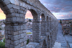 Aqueduto em Segovia, Castilla y Leon, Espanha Fotos de Stock Royalty Free