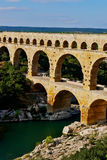 Aqueduto France de Pont du Gard imagens de stock royalty free