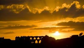 Aqueduto gótico, Morella Foto de Stock Royalty Free