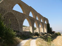 Aqueduto - Morella, Spain Imagem de Stock