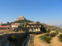 Aqueduto - Morella, Spain Imagens de Stock