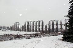 Aqueduto romano em Merida Imagens de Stock Royalty Free
