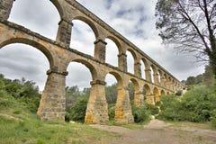 Aqueduto romano em Tarragona Fotos de Stock