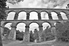 Aqueduto romano em Tarragona Imagens de Stock