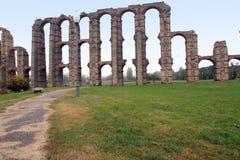 Aqueduto romano, Merida Província de Badajoz, Extremadura, Espanha Fotografia de Stock