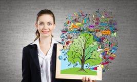 Aquela é ideias da mina do crescimento do negócio! Fotos de Stock Royalty Free